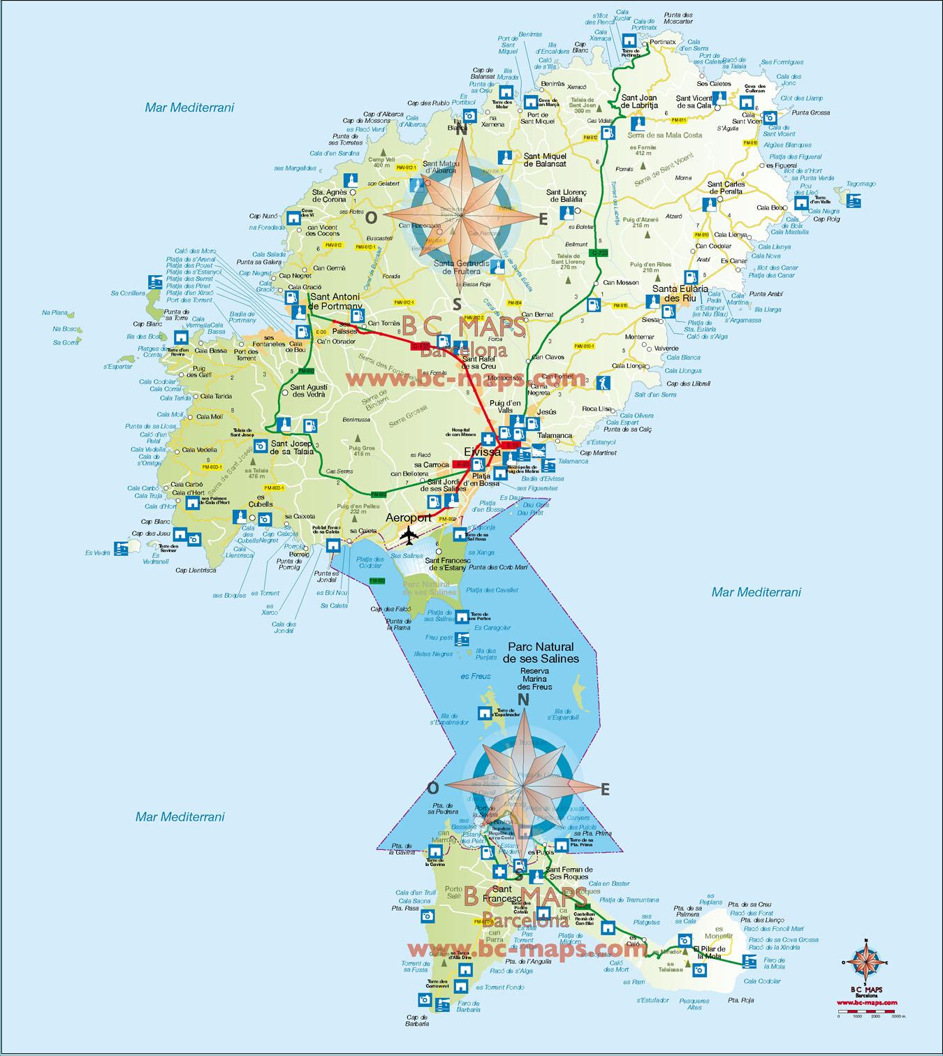 Mapas vectoriales illustrator eps - Codigo postal ibiza ...
